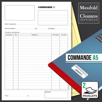 Carnet de commande 2 feuillets format A5