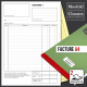 Carnet de facturation 2 feuillets format A4