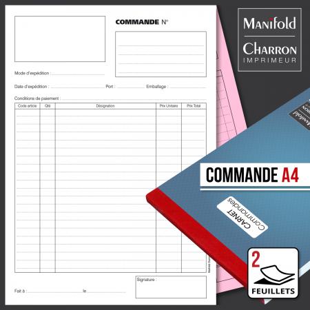 Carnet de commande 2 feuillets format A4
