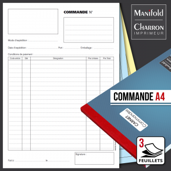 Carnet de commande 3 feuillets format A4